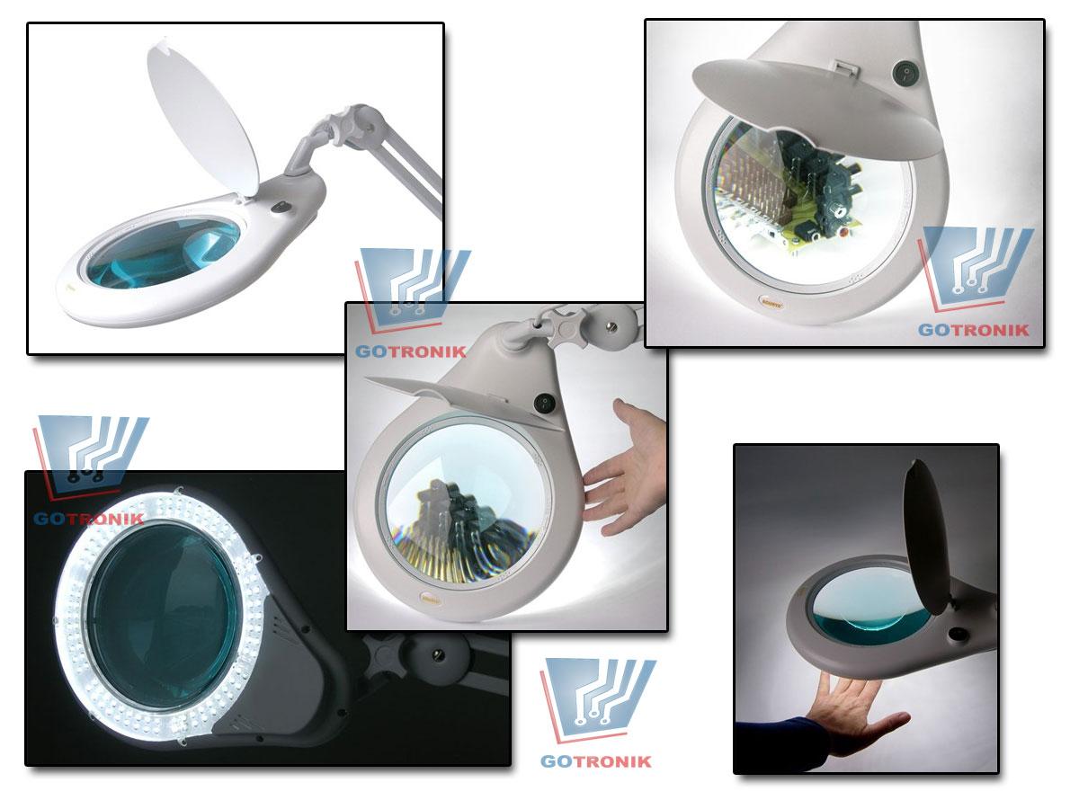 Lampa z lupą 5D 108 LED przykręcana do blatu