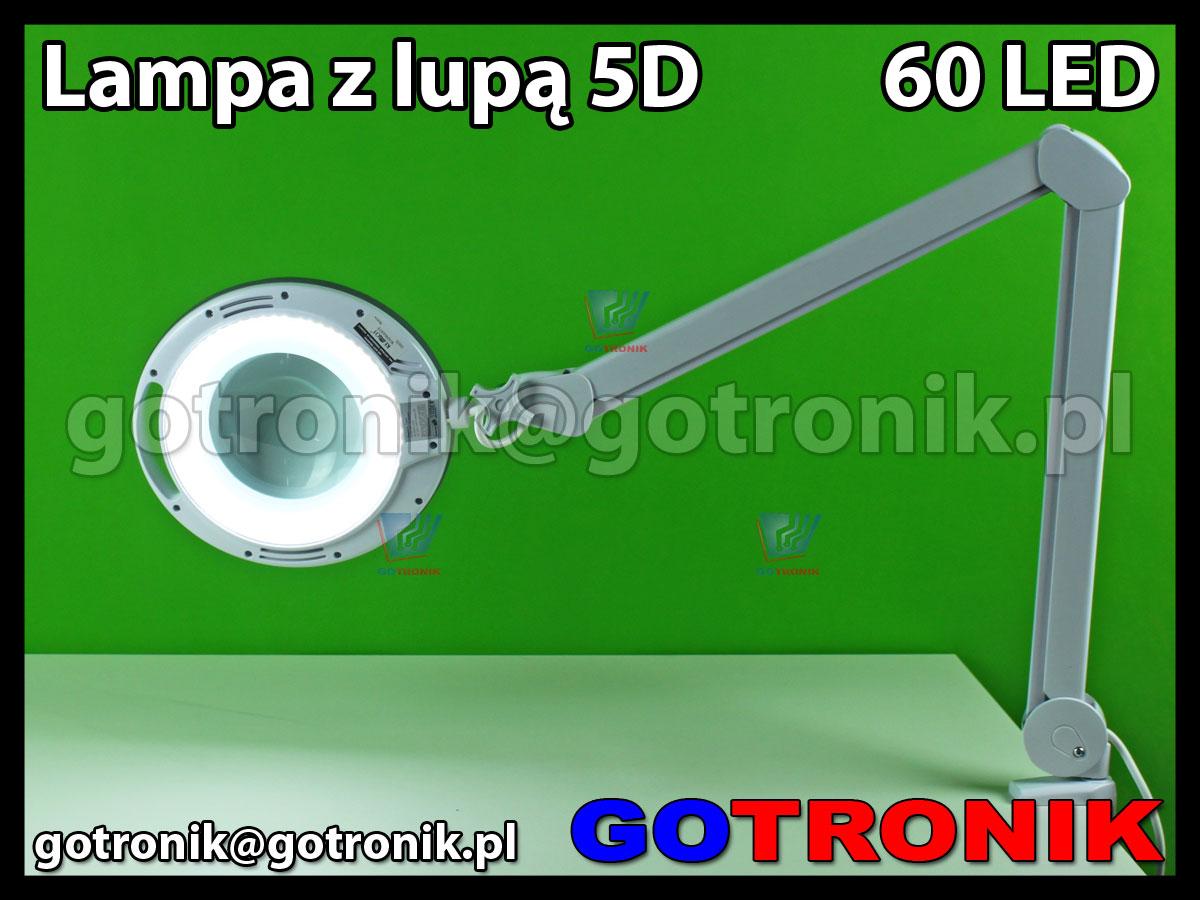 NAR0461 Lampa warsztatowa z lupą 5D x60 diod SMD