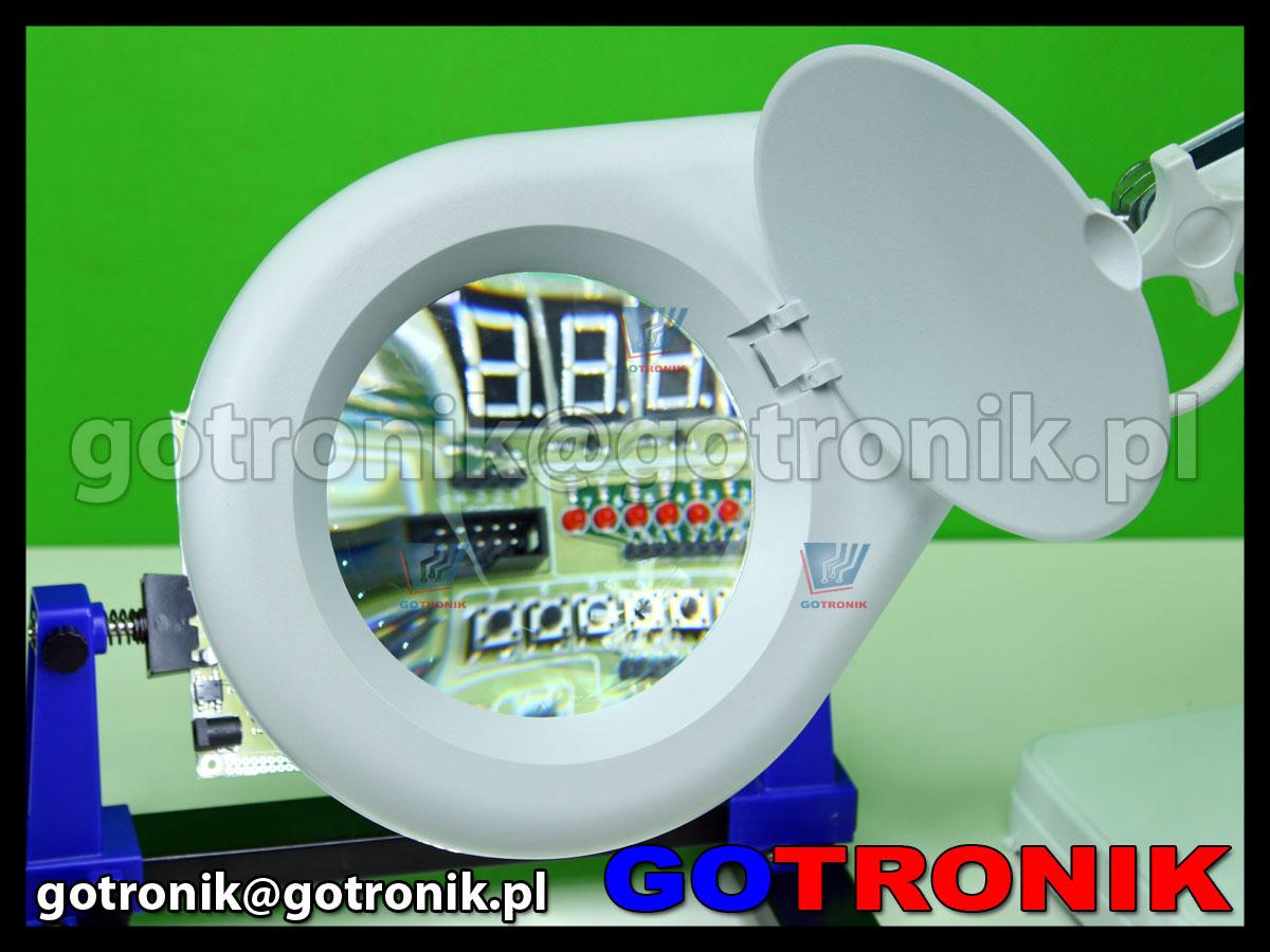 Lampa x90 diod LED z lupą o powiększeniu 5D x2,25