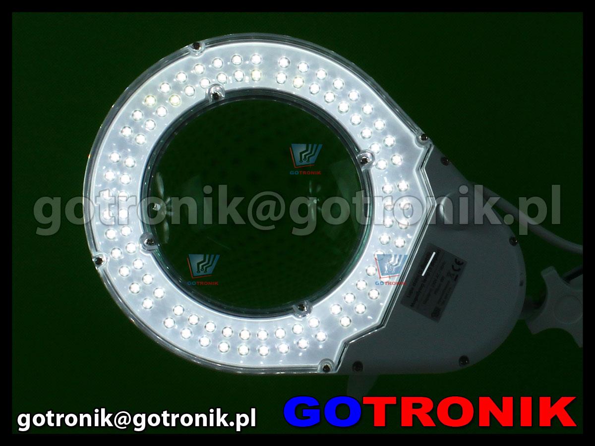 Lampa x90 diod LED z lupą o powiększeniu 8D x2,75