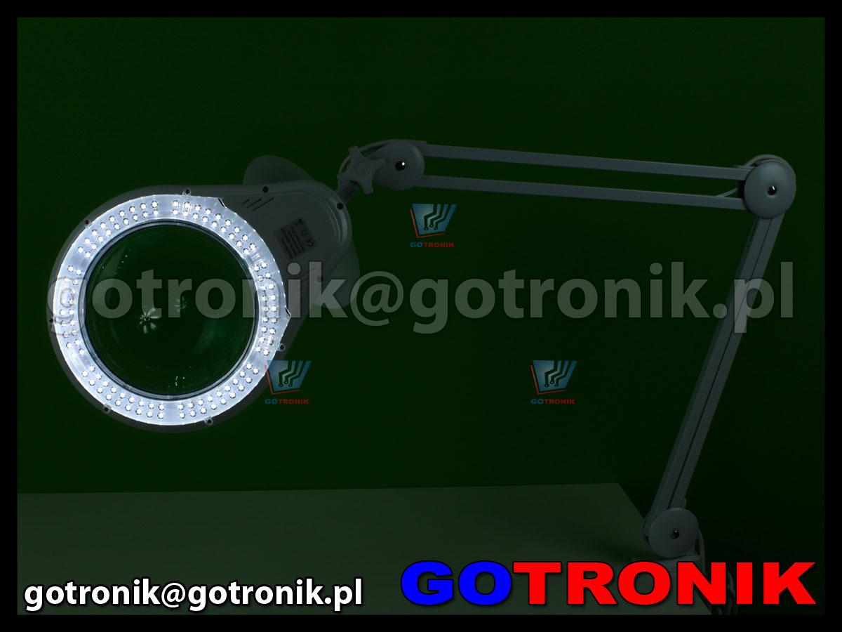 Lampa z lupą 5D 108xLED przykręcana do blatu