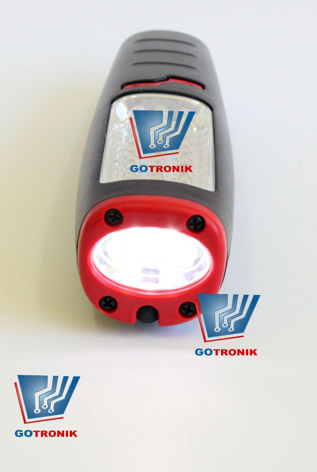 Lampa warsztatowa 30+7 LED z ładowarką sieciową i samochodową