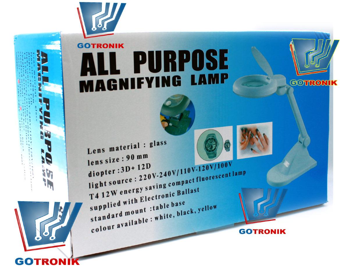 Lampa z lupą 3D + 12D