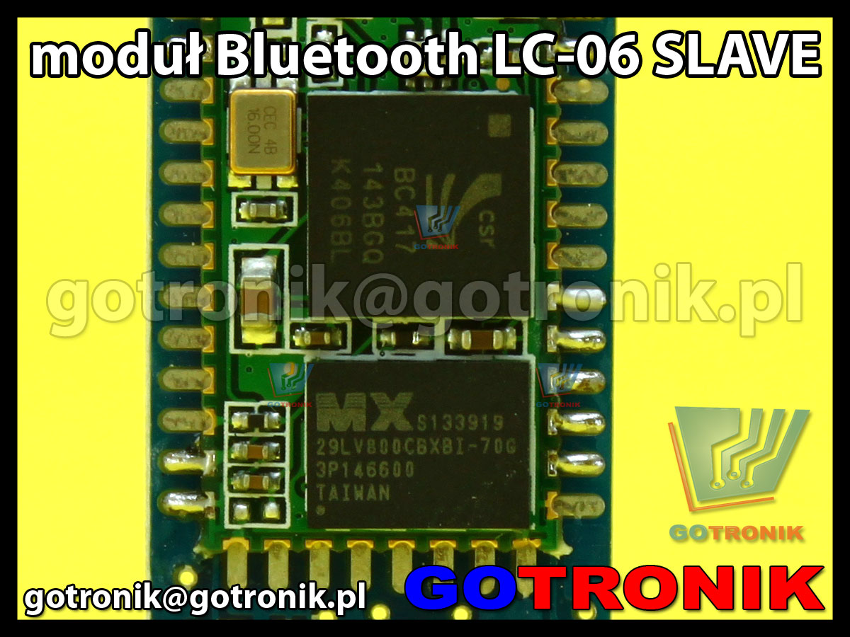 Bluetooth LC-06 Host slave moduł odbiornika HC-06