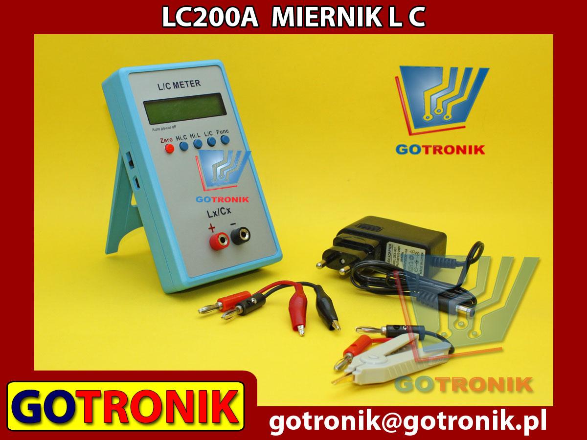 LC200A miernik indukcyjności i pojemności kondensatorów