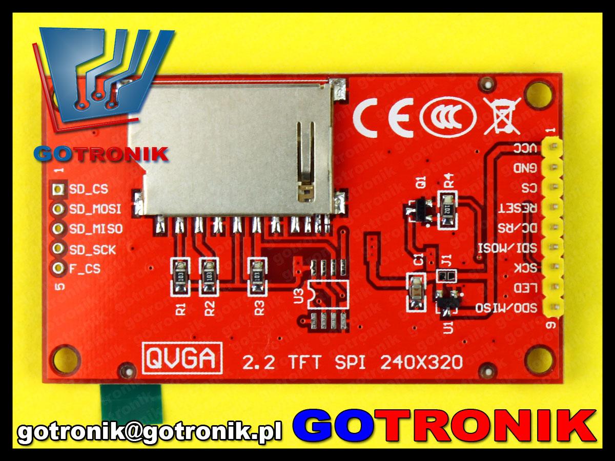 wyświetlacz LCD TFT 2.2