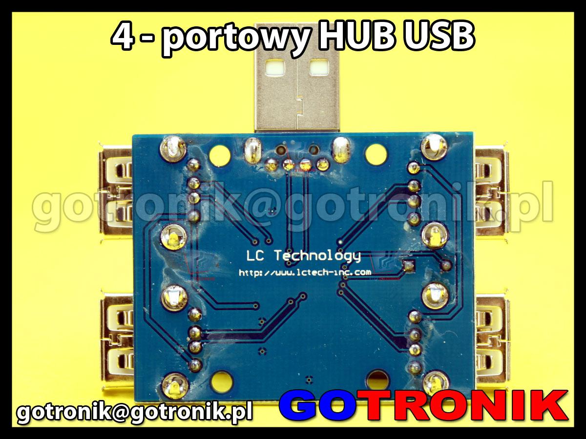 4 portowy HUB USB2.0 pasywny GL850G