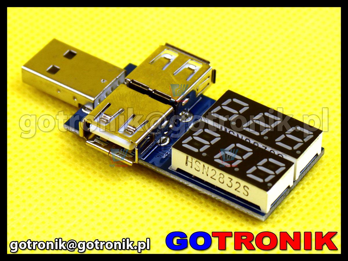 Miernik napięcia i prądu na złączu USB