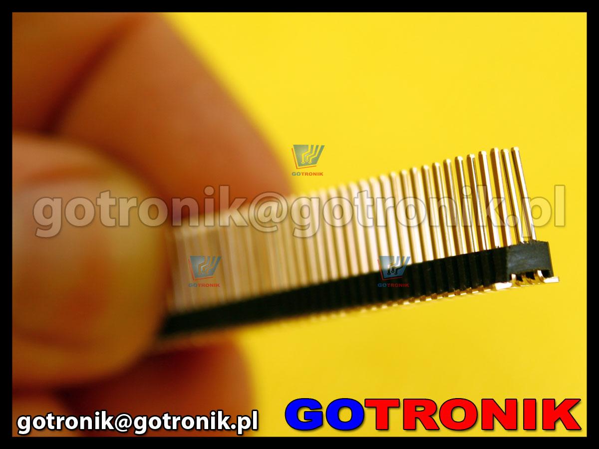 Listwa stykowa 2x40 pin raster 1,27mm SMD