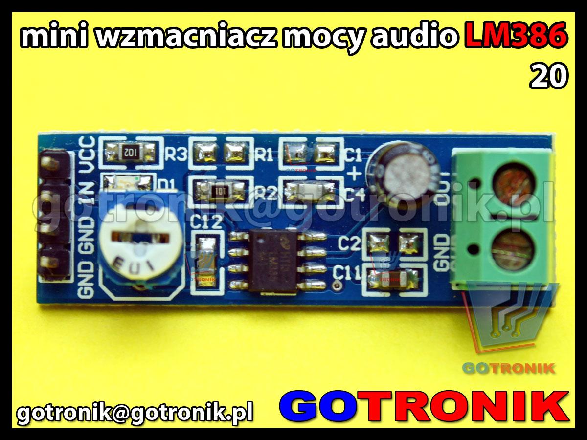 LM386 moduł wzmacniacza mocy audio