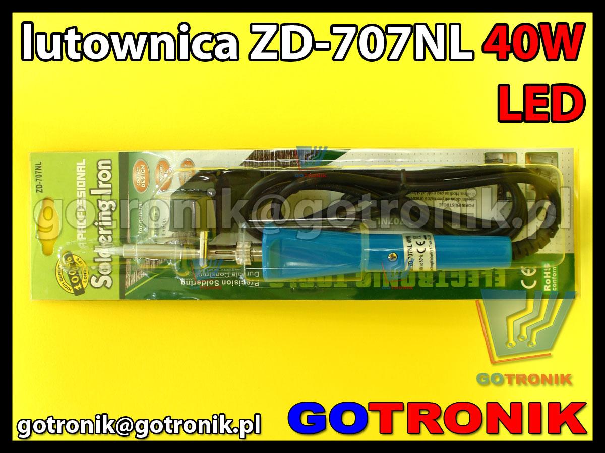 Lutownica moc 40W z podświetleniem LED ZD-707NL