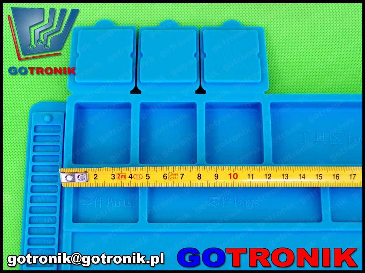 MAT-015 silikonowa mata antystatyczna do lutowania serwisowa GSM odporna na temperaturę 45cm x 30cm MAT015 ESD