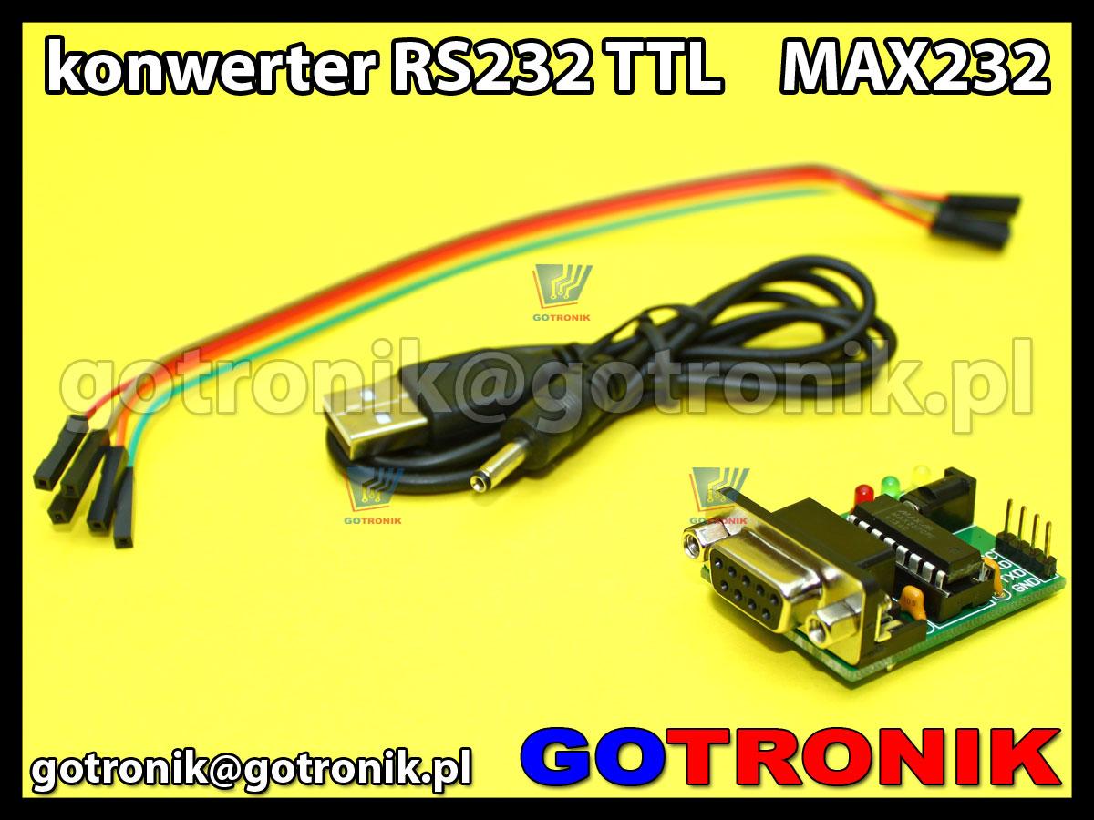 Konwerter RS323 TLL 3.3V lub 5V MAX232 + przewody