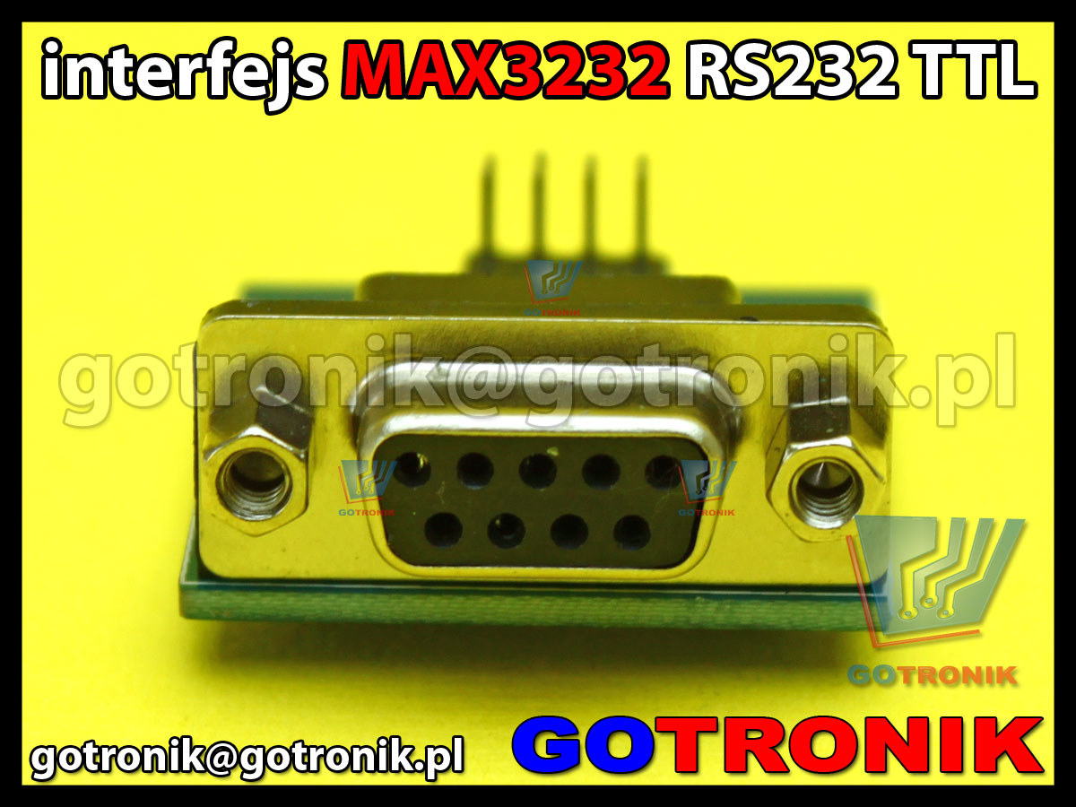 interfejs konwerte rs232 ttl max3232 db9