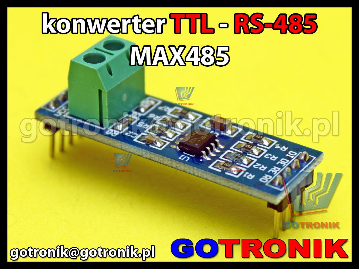 Konwerter RS485 - TTL na układzie MAX485