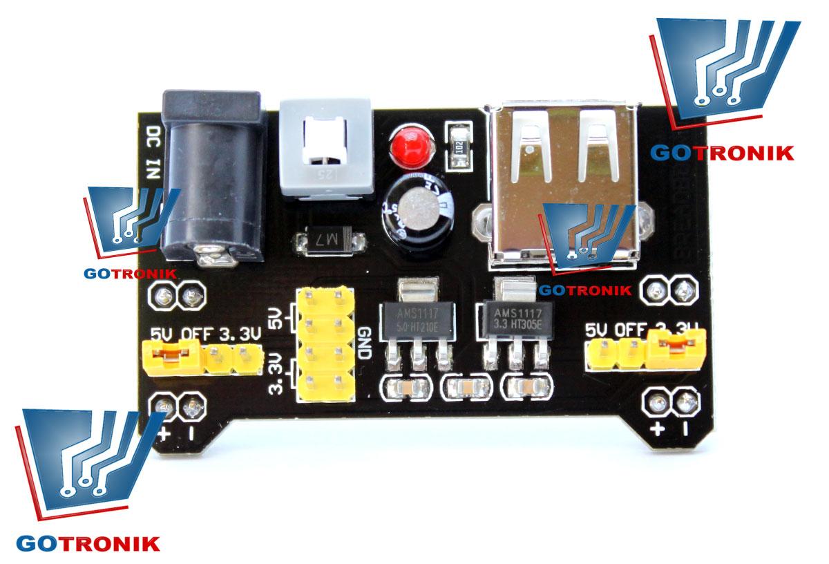 MB102 moduł zasilający 3,3V 5,0V
