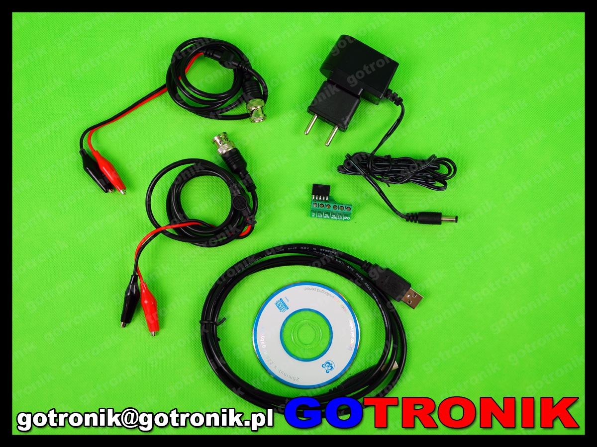 Generator sygnałowy funkcyjny dds przebiegów sinusoidalny arbitralny dwukanałowy MHS-5200A USB