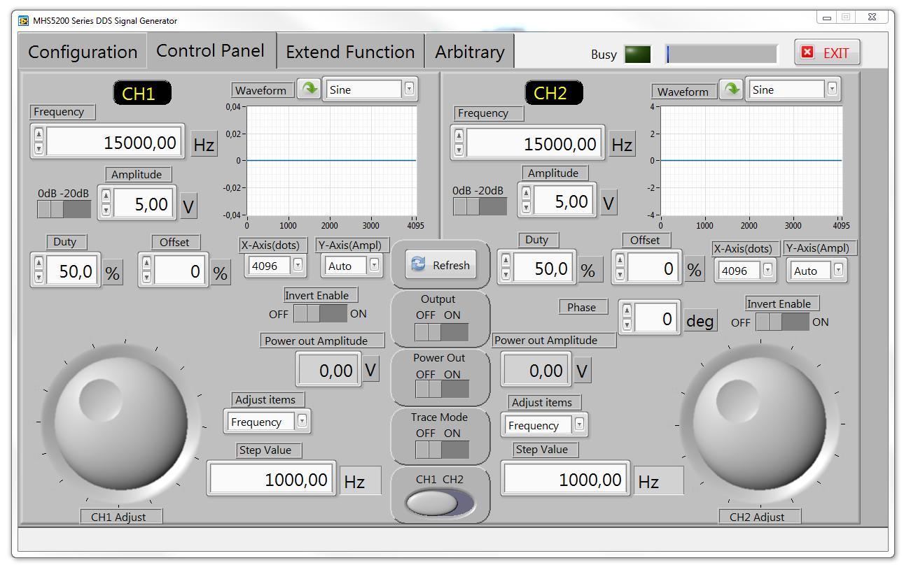 oprogramownie generator MHS-5200A