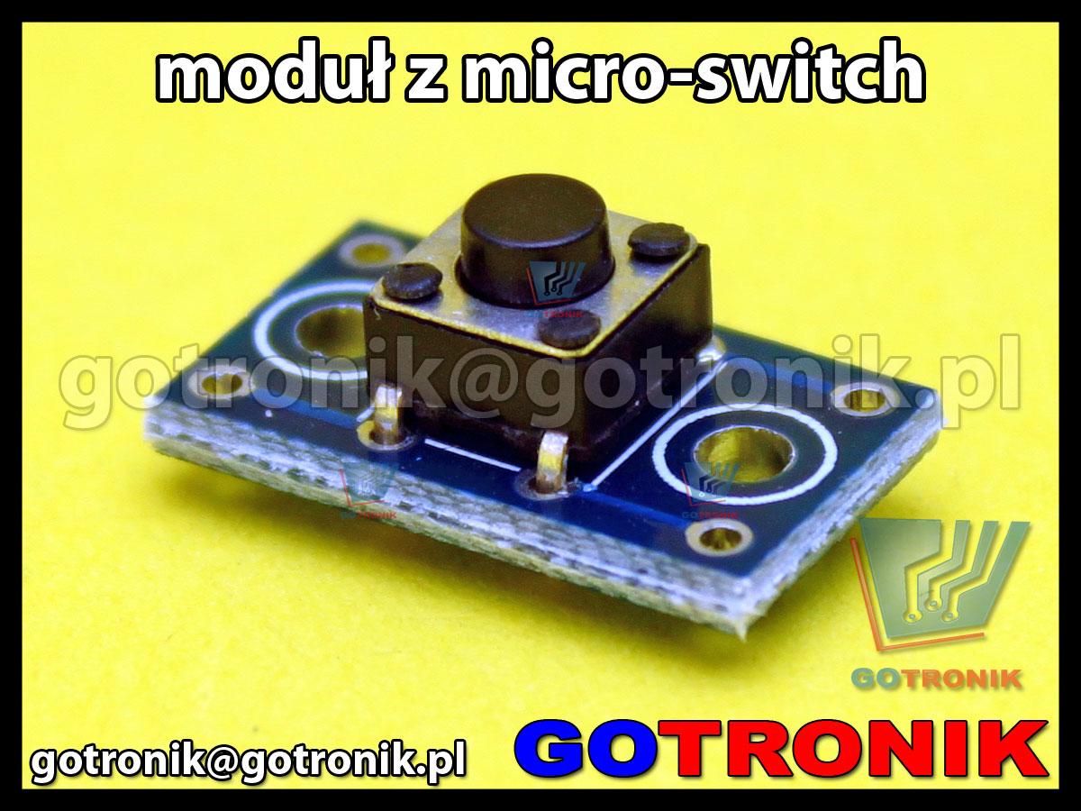 moduł z przyciskiem micro switch 6mm x 6mm