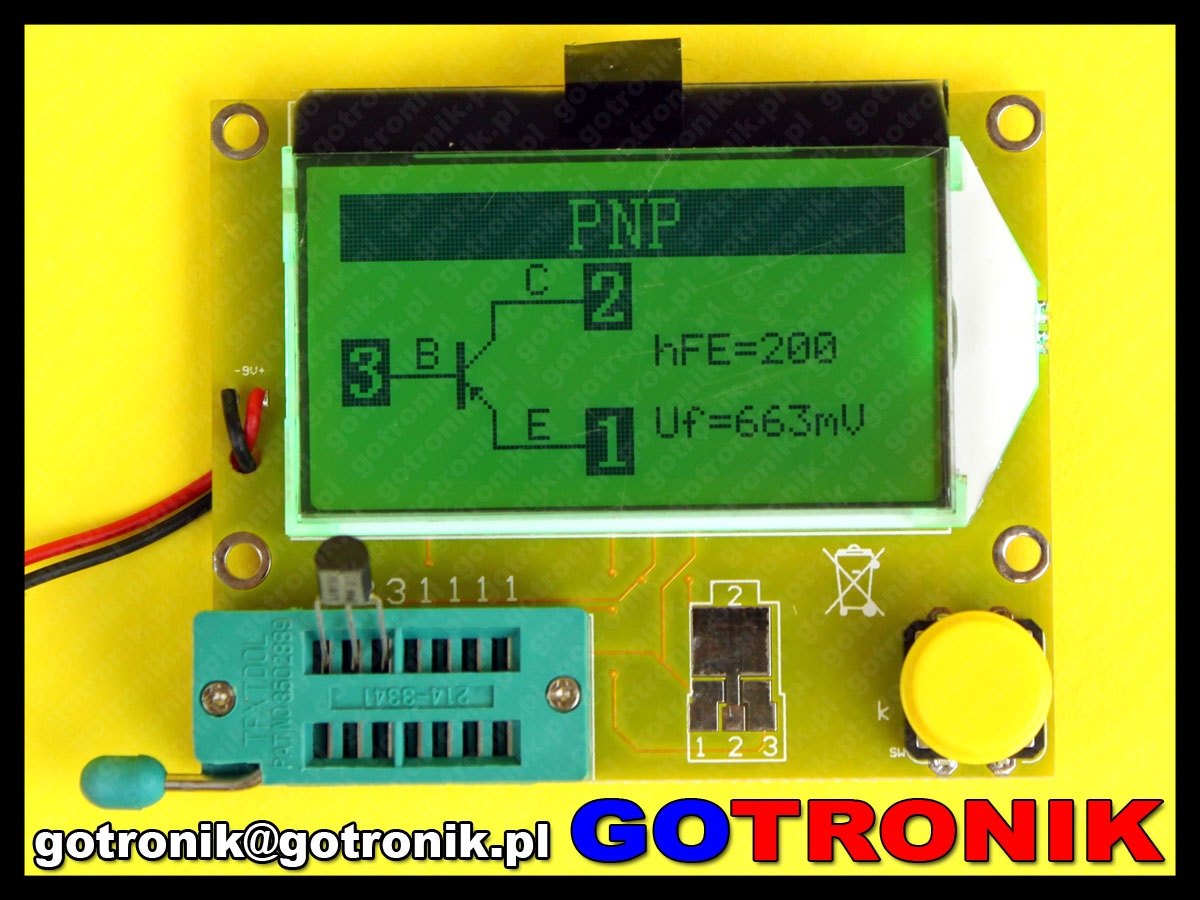 AVR tester miernik Atmega328 RLC ESR ZIF PURE GREEN