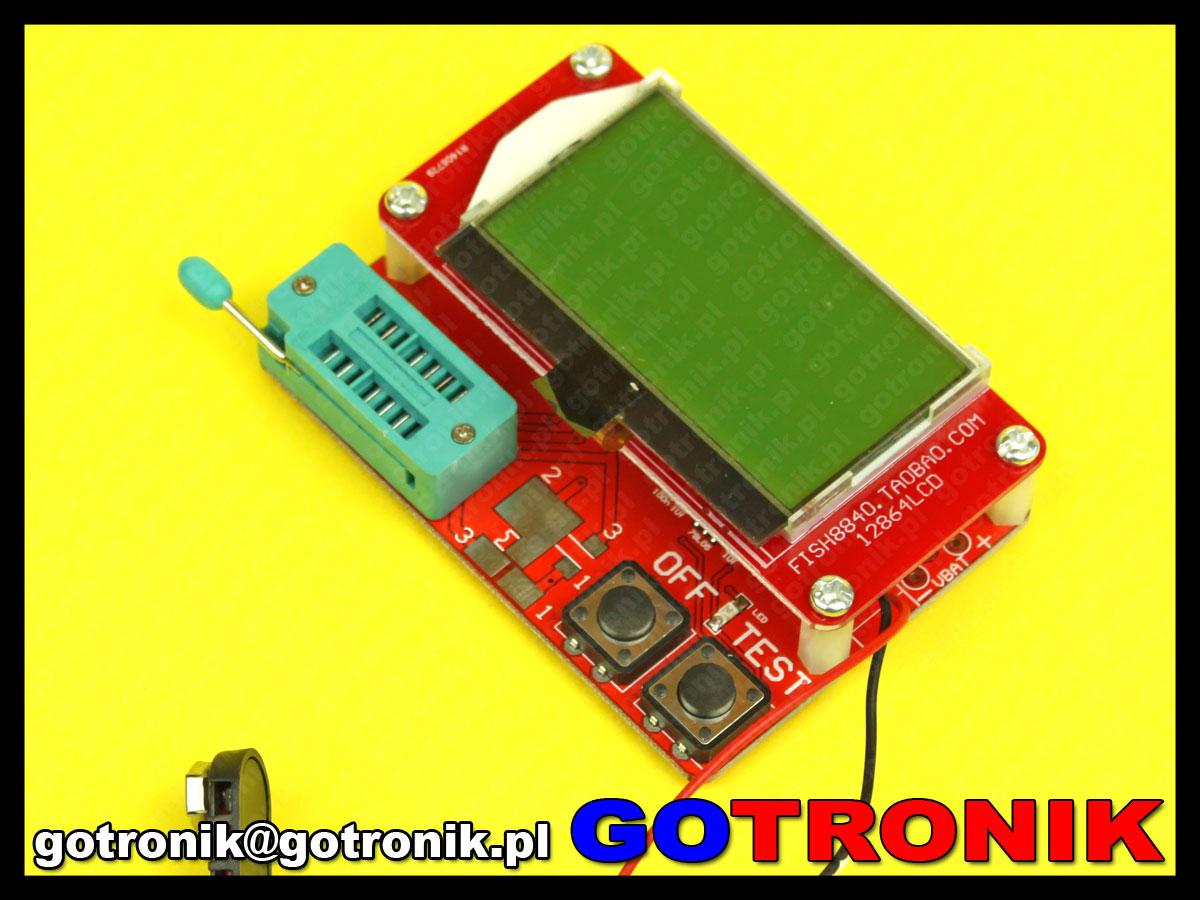 AVR tester miernik Atmega328 RLC ESR ZIF fish8840