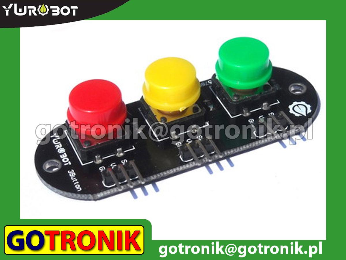 Moduł 3 przycisków tact-switch
