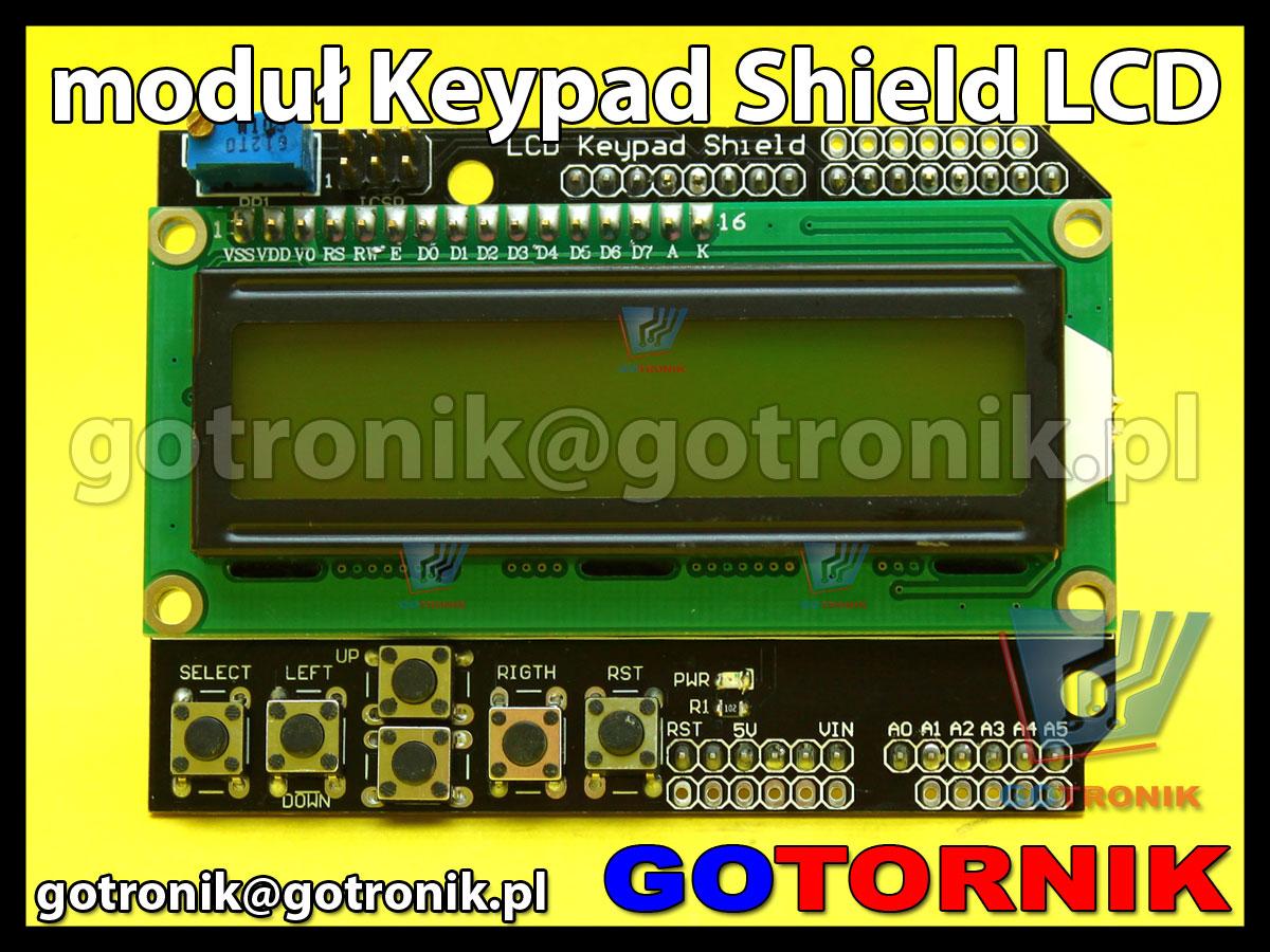 Moduł Keypad shield LCD do AVR ARDUINO UNO MEGA klawiatura wyświetlacz