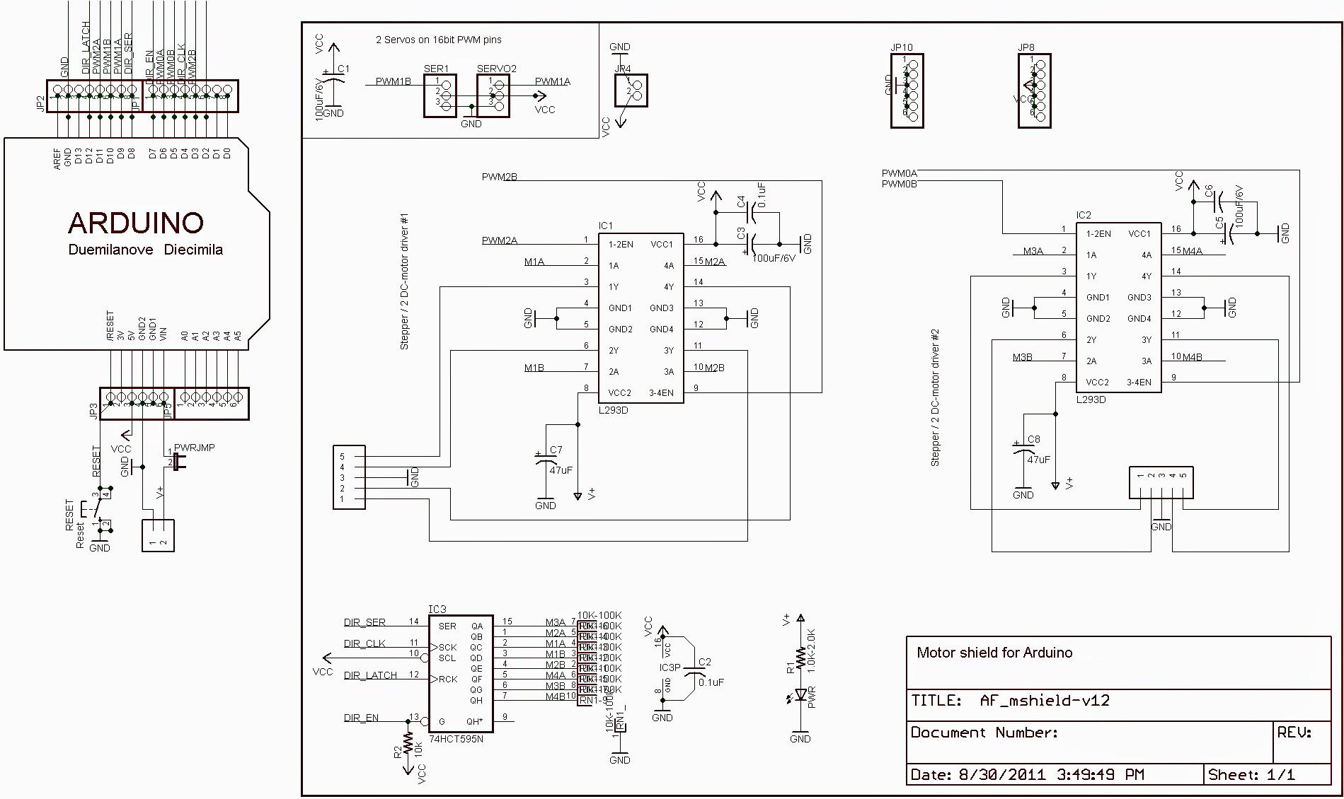 Arduino Motor Shield L293