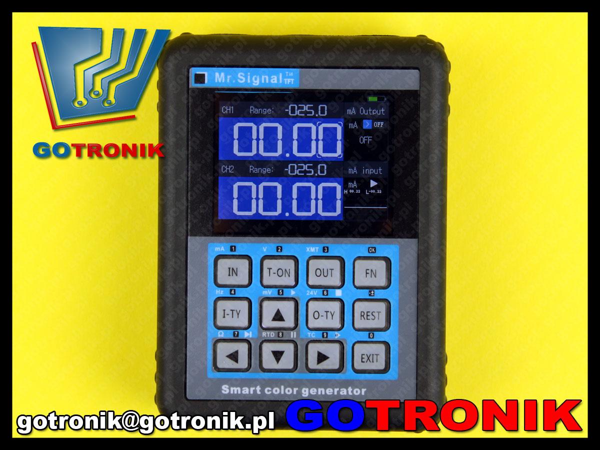 wielofunkcyjny kalibrator procesów MR2 kalibrator zadajnik process calibrator 4-20mA