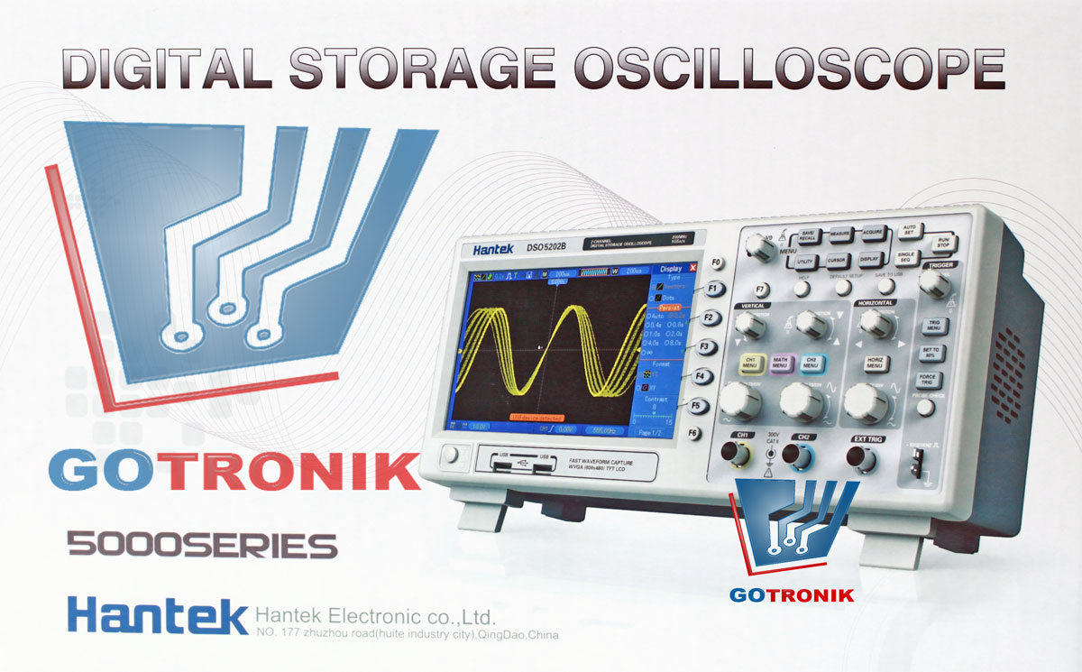 MSO5202D Hantek oscyloskop cyfrowy z 16 kanałowym analizatorem stanów logicznych