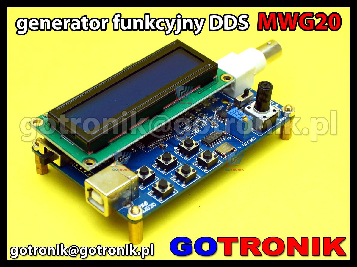 Generator funkcyjny DDS MWG20 1Hz-20MHz