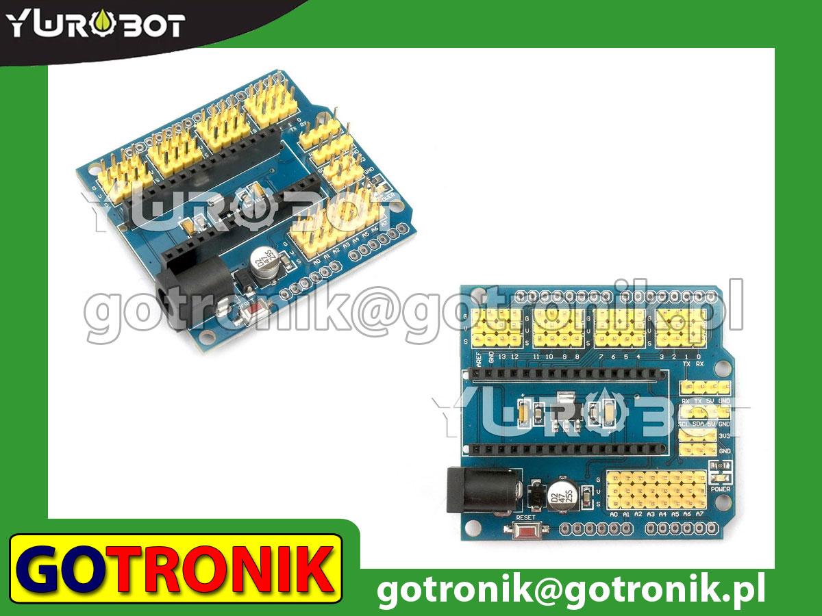 I/O shield dla Arduino Nano - płytka bazowa