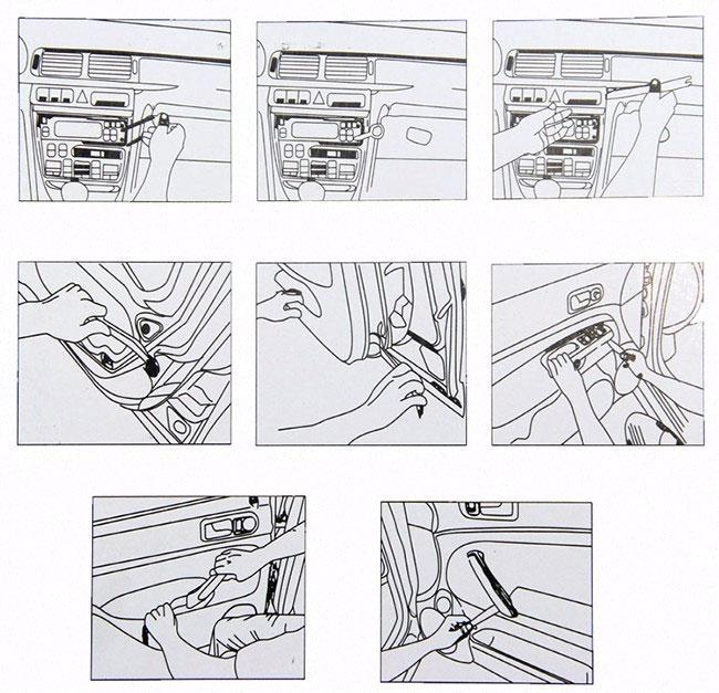 NAR068 12 elementowy zestaw do demontażu podważania wyjmaki tapicerki NAR-068