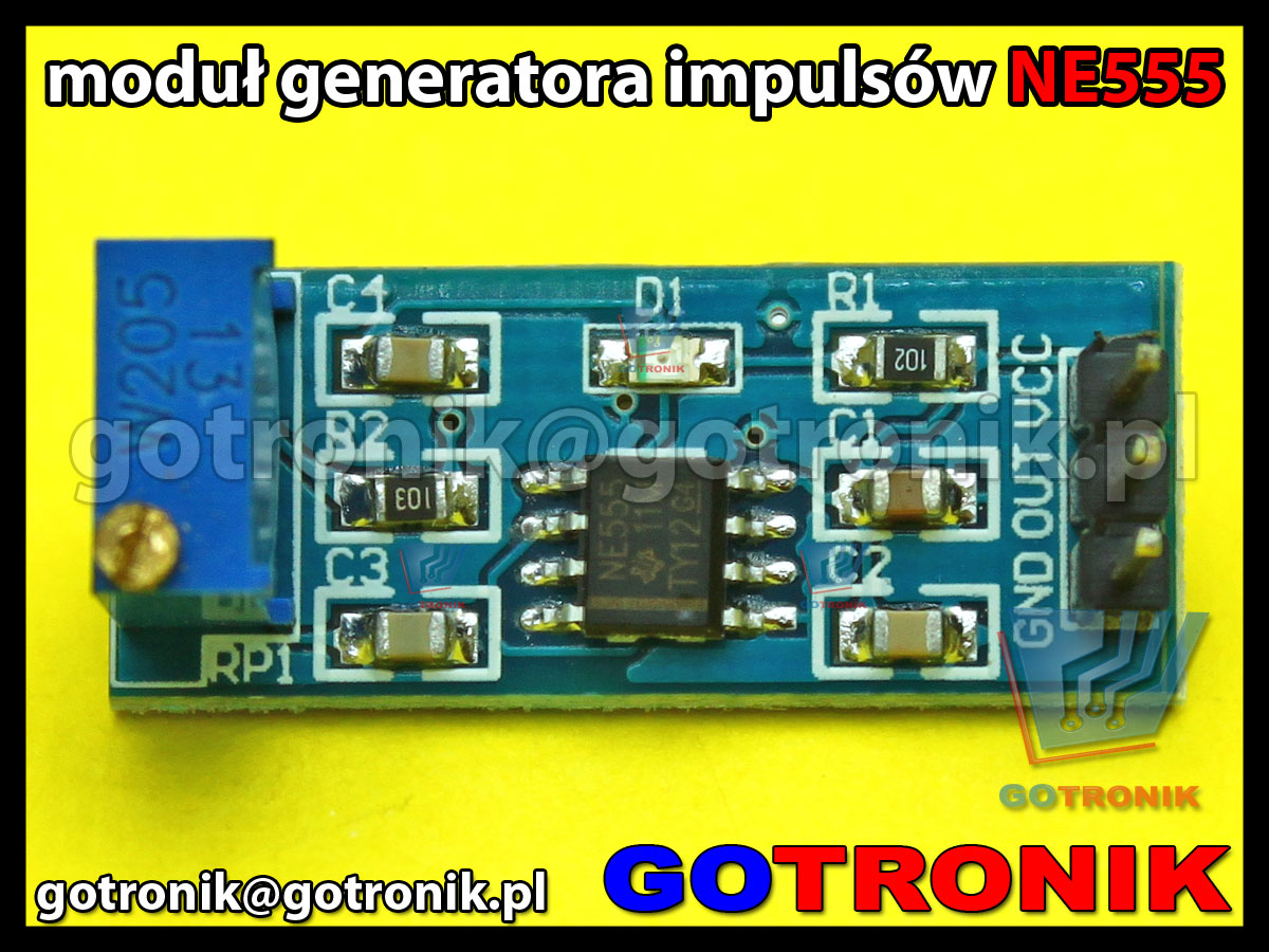 NE555 moduł regulowanego generatora impulsów