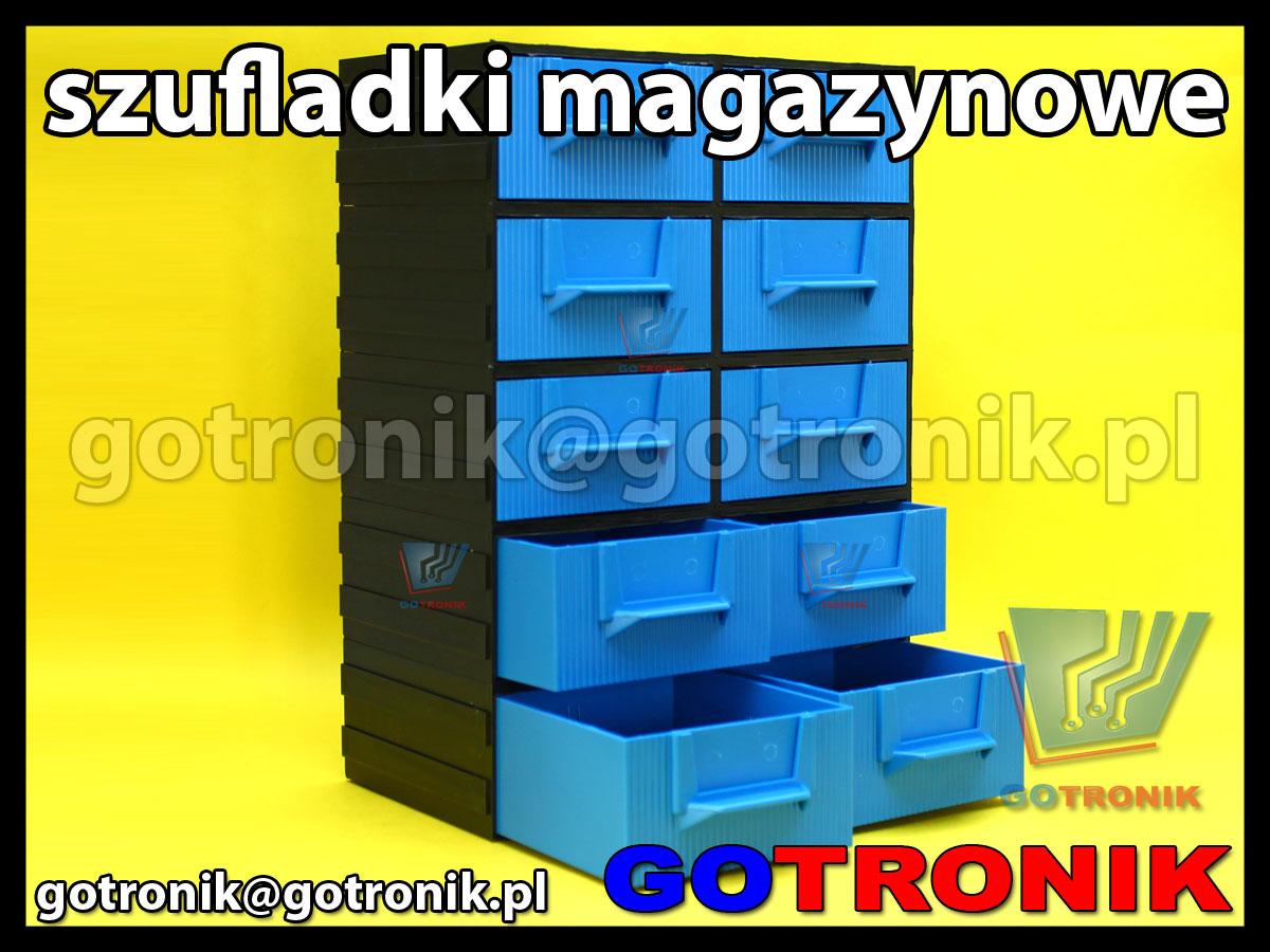 regał szufladkowy z 10 szufladkami z przegrodami szufladki magazynowe