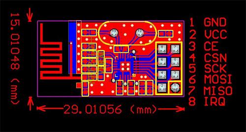 nRF24L01+ moduł wireless do komunikacji bezprzewodowej 2.4GHz WiFi
