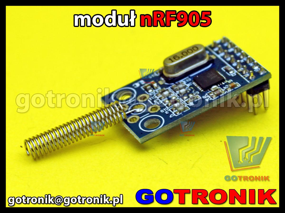 Moduł bezprzewodowy nadajnik-odbiornik nRF905 433MHz z anteny sprężyna