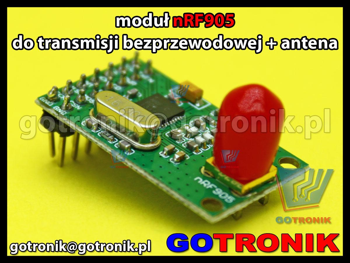 Moduł nRF905 transmisji bezprzewodowej + antena