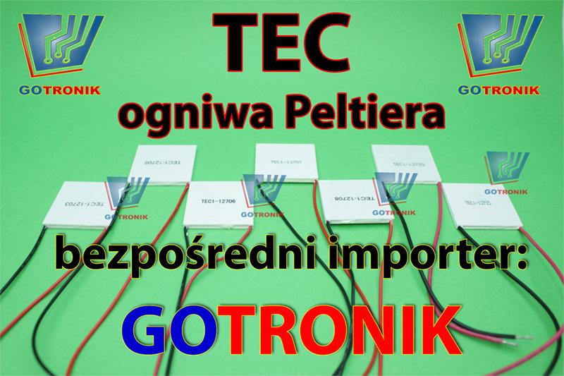 TEC - ogniwa Peltiera, elementy, termomoduły, moduły, coller