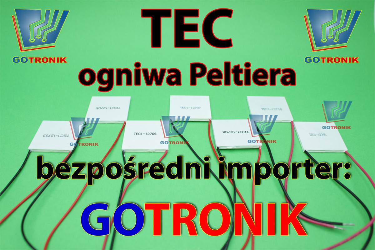 Ogniwa Peltirea produkcji TEC