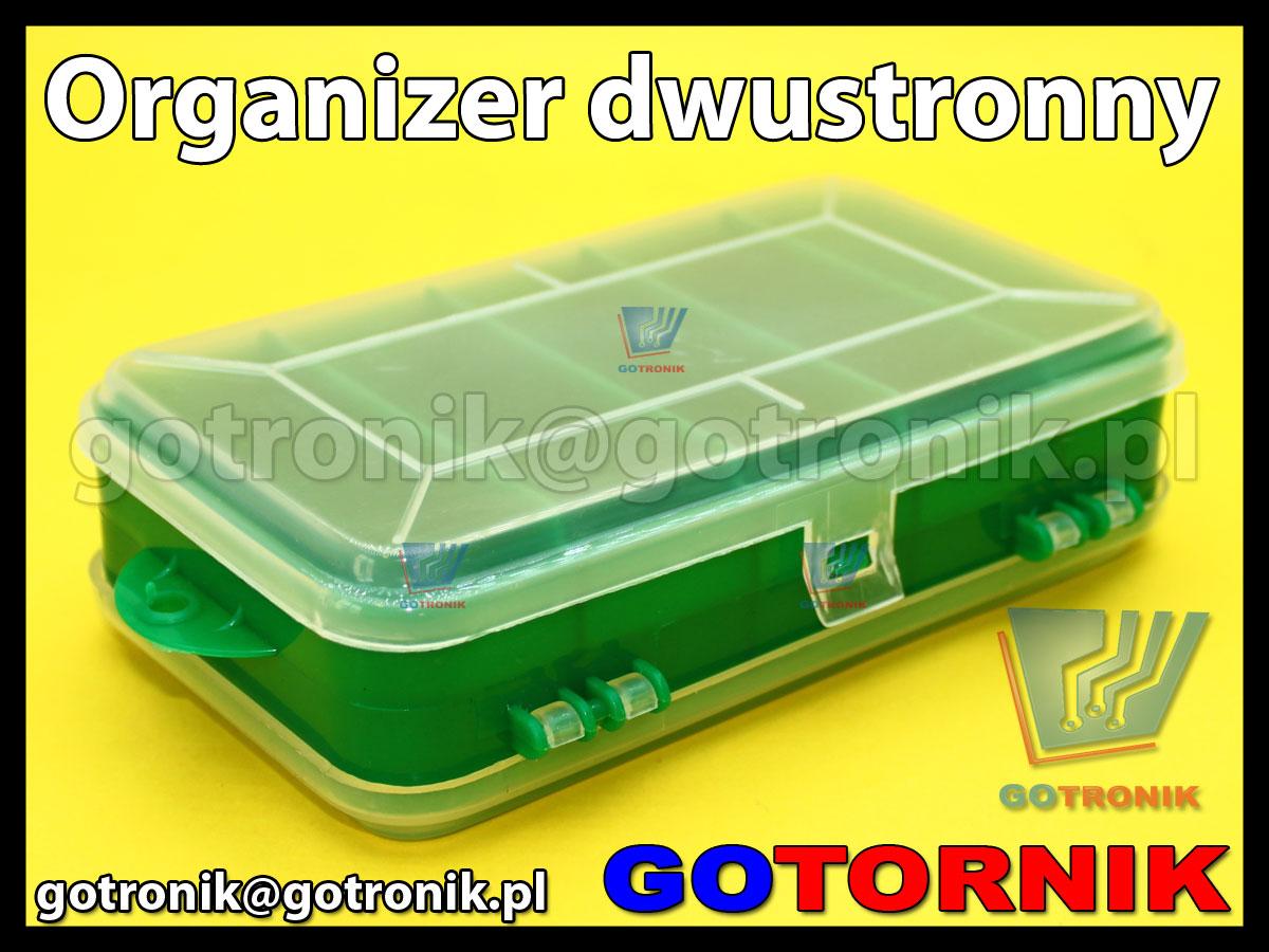 Organizer dwustronny 8+5 przegródek, wymiary 165 x 95 x 45 mm