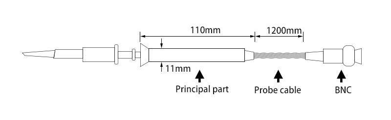 Sonda oscyloskopowa wysokonapięciowa 100:1 2kV 250MHz P4250 2000V