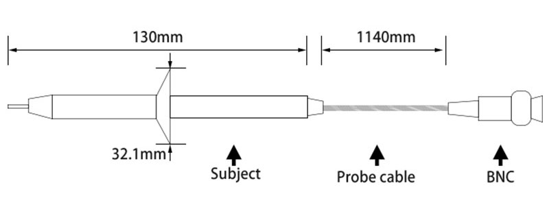 Sonda oscyloskopowa wysokonapięciowa 100:1 4kV 100MHz P5100 4000V