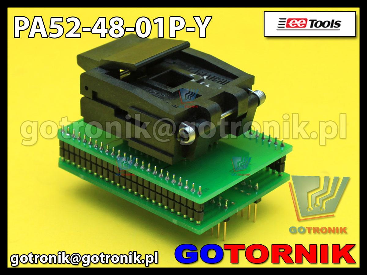 Adapter PLCC52 to DIP48 PA52-48-01P-Y do programatorów ChipMax2 i TopMax2 procesor MC68HC05 Motorola