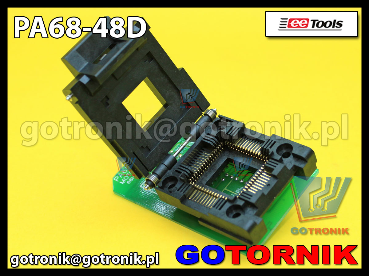 Adapter PLCC68 to DIP48 PA68-48D do programatorów ChipMax2 i TopMax2 procesor MC68HC11L6FN,MC68HC711L6FN Motorola