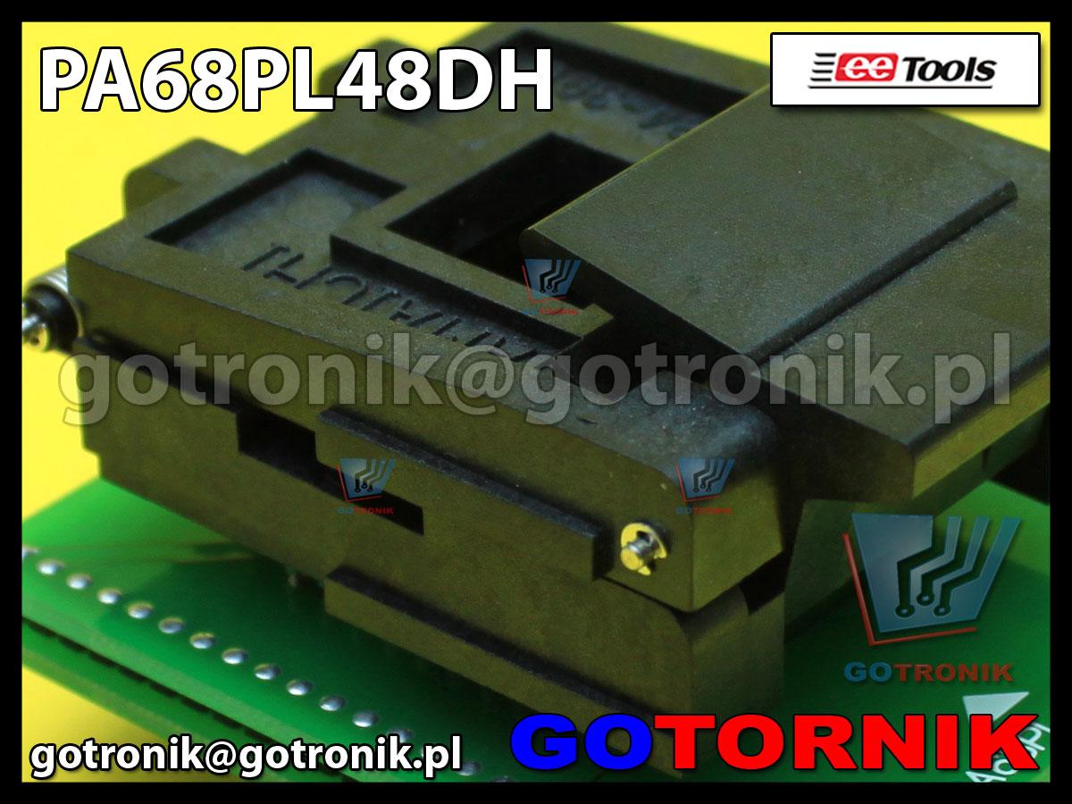 Adapter PLCC68 to DIP48 PA68PL48DH-YC PA68-48H PA68-48H do programatorów ChipMax2 i TopMax2 procesor MC68HC711KS2VFN Motorola