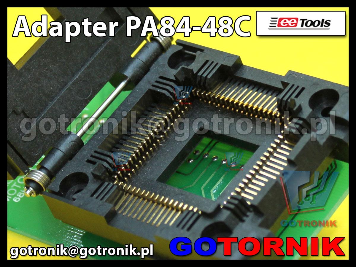 Adapter PLCC84 to DIP48 PA84-48C PA84PL48DC-YC PA84-48C do programatorów ChipMax2 i TopMax2 procesor MC68HC711K4 Motorola PLCC-84
