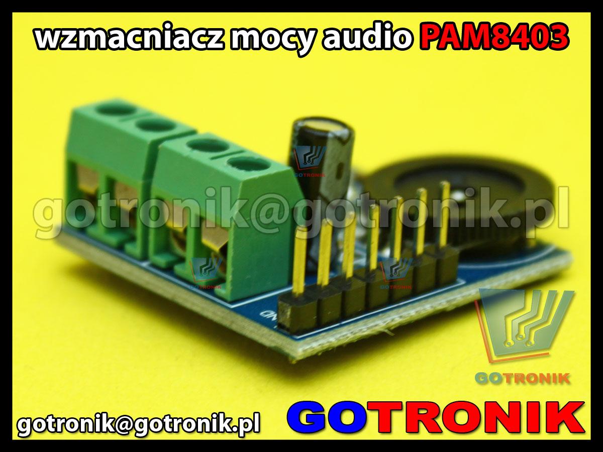 Moduł wzmacniacza mocy audio PAM8403