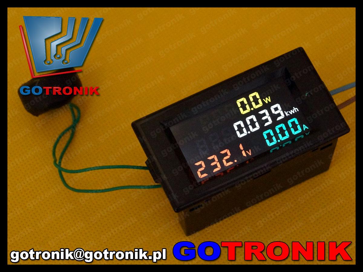 BTE-439 80-300V panelowy miernik napięcia AC, prądu AC, mocy, energii, LED