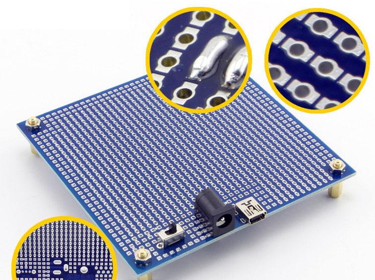 uniwersalna płytka drukowana PCB 95x95mm PCB-095 dwustronna z metalizacją otworów